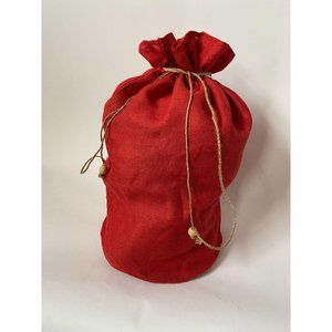 PRICE REDUCED! 3 Ft Tall Red Burlap Gift Bag